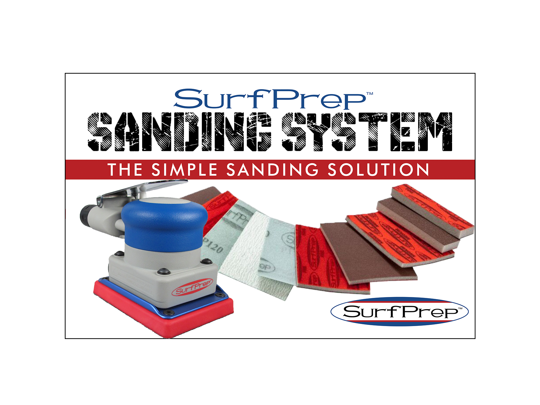 Sanding Systems 3x4 Air Orbital Sander SPSS3x4